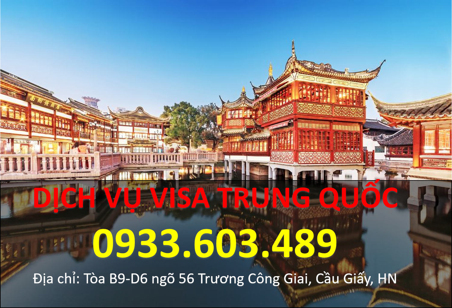 Khai truong Trung tâm visa Trung Quoc CVS